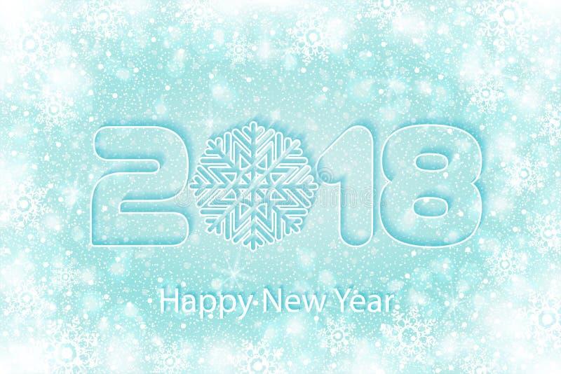 Vector o fundo 2017 do ano novo feliz com cortes de papel ilustração stock