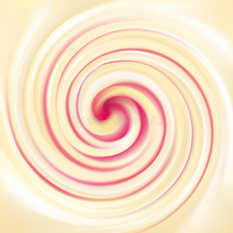 Vector o fundo do creme de roda da leiteria da textura com framboesa ilustração royalty free
