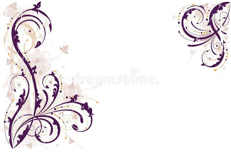 Vector o fundo floral do grunge ilustração stock
