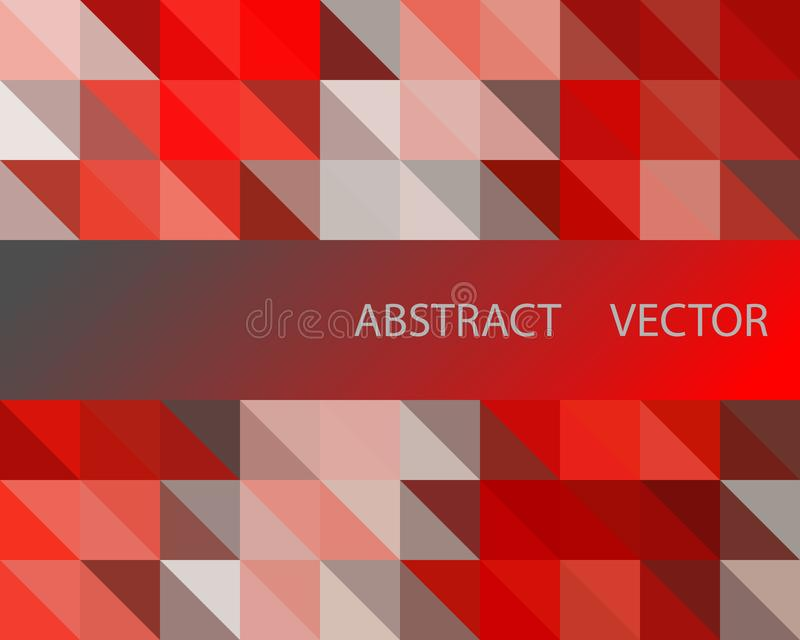 Vector o fundo geométrico abstrato com triângulos - para o negócio, projeto incorporado, tampa, brochura, folheto ilustração royalty free