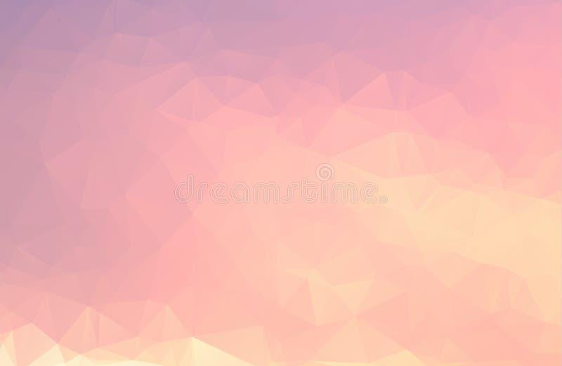 Vector o fundo geométrico poligonal moderno abstrato do triângulo do polígono ilustração royalty free