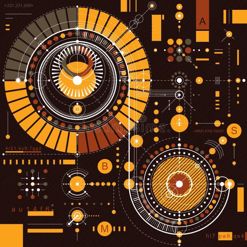 Vector o fundo industrial e da engenharia, p técnico futuro ilustração do vetor