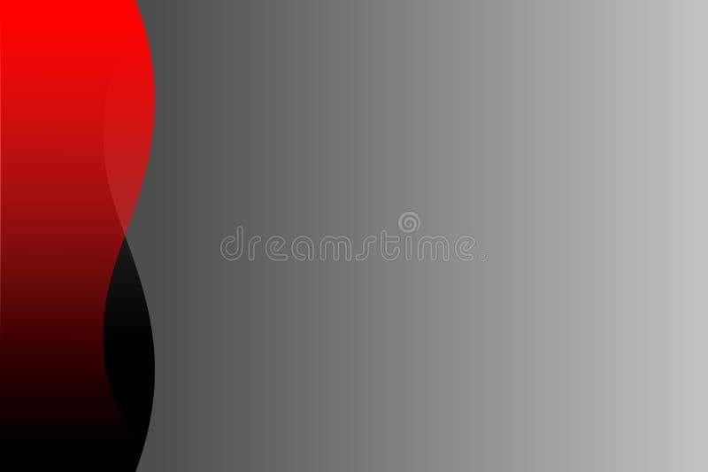 Vector o fundo ondulado preto e cinzento vermelho abstrato, papel de parede ilustração do vetor