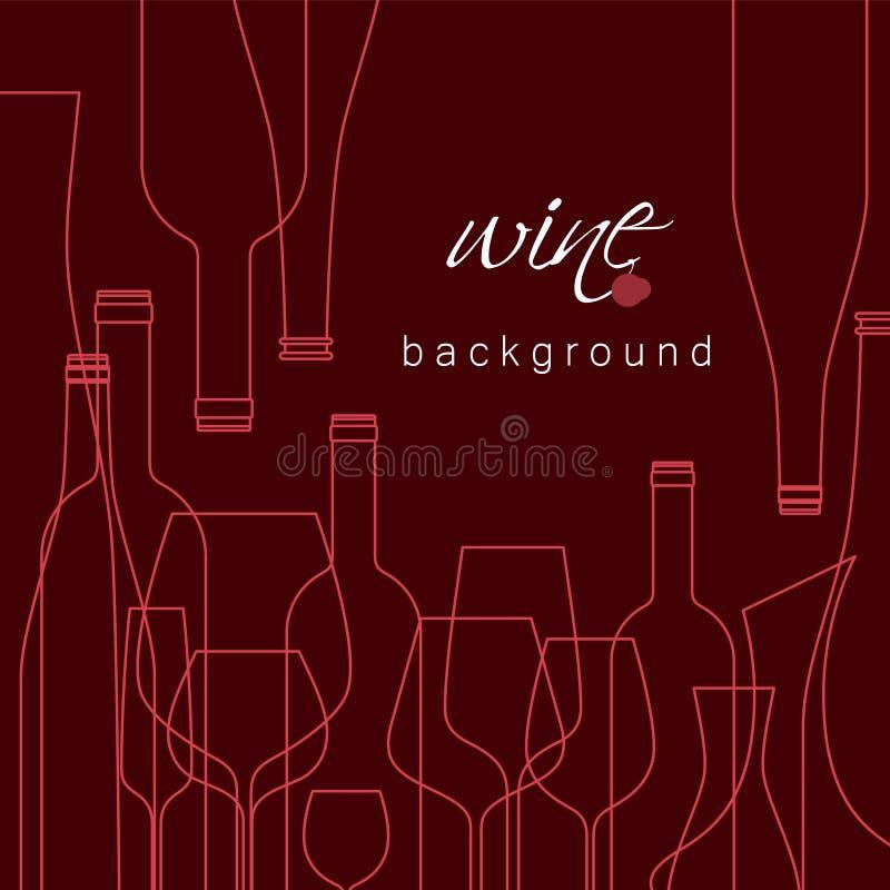 Vector o fundo para o menu, gosto, cartão do vinho ilustração royalty free