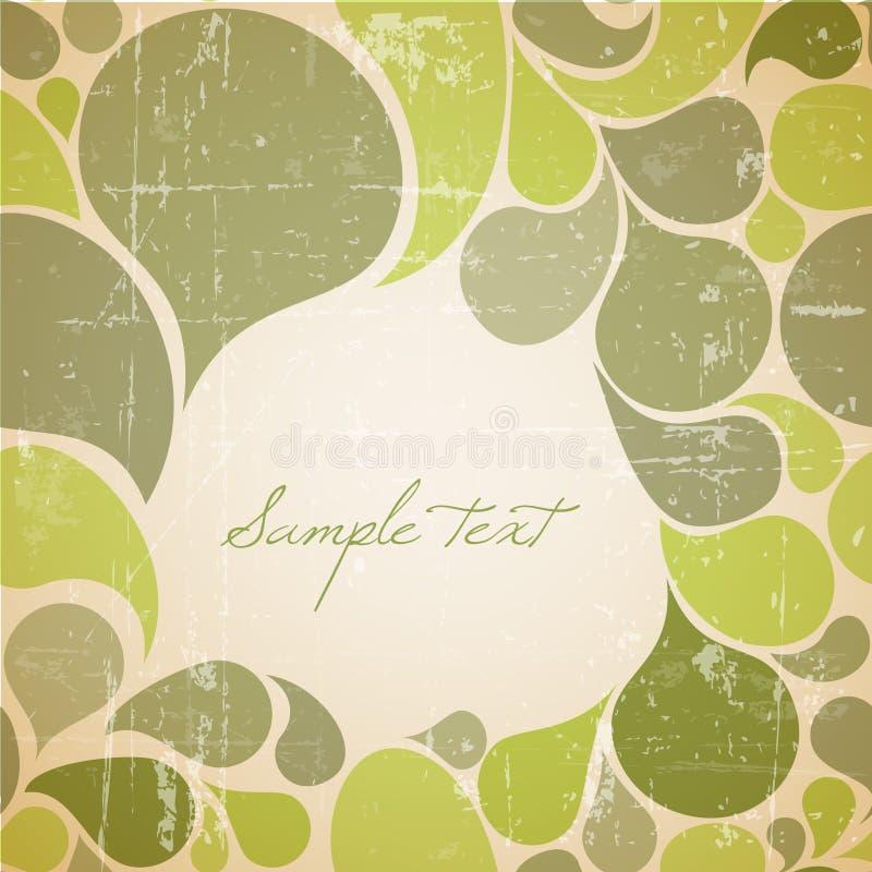 Vector o fundo retro abstrato verde ilustração stock