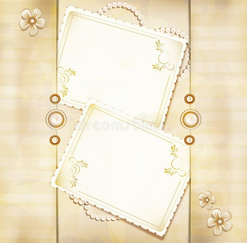 Vector o fundo retro do ouro das felicitações ilustração stock