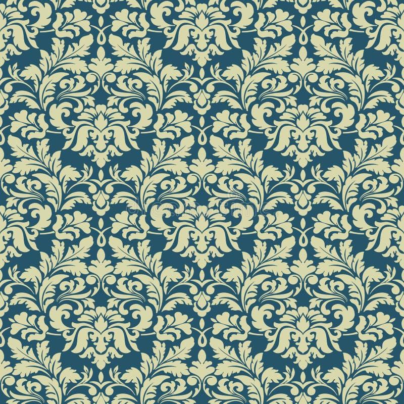 Vector o fundo sem emenda do teste padrão do damasco Ornamento antiquado luxuoso clássico do damasco, victorian real sem emenda ilustração royalty free