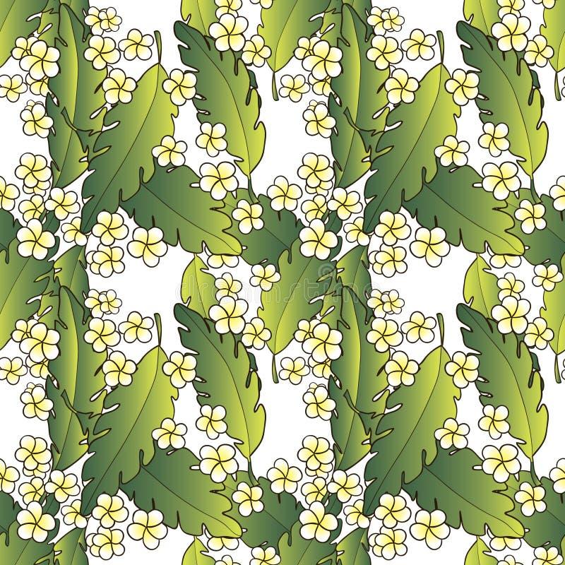 Download Teste Padrão Com Palma E Flores Ilustração do Vetor - Ilustração de elemento, flores: 29826800