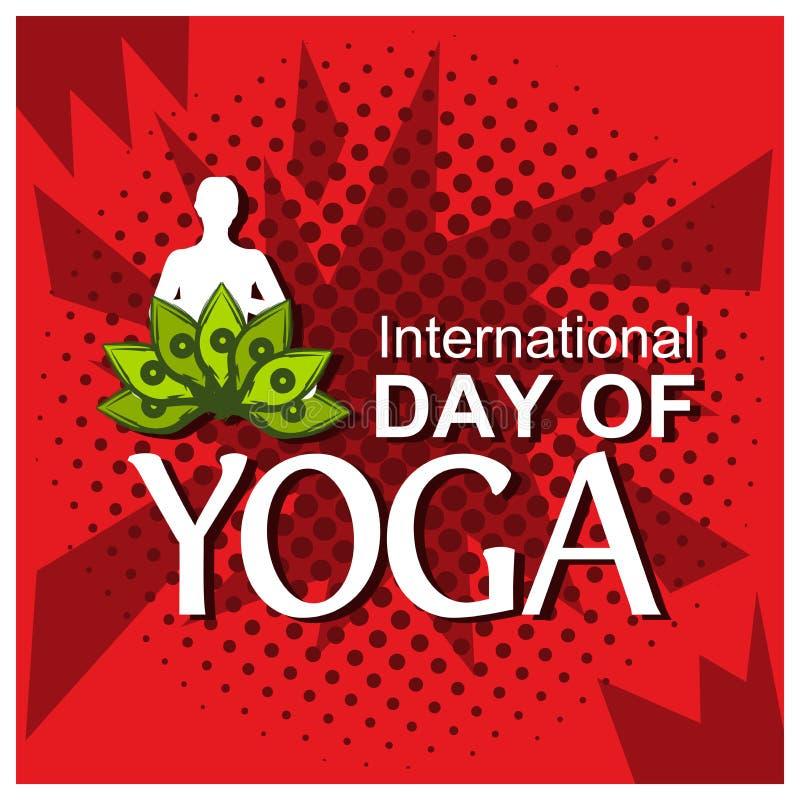 Vector o fundo verde da ilustração para comemorar o dia internacional da ioga do 2 de junho ilustração do vetor