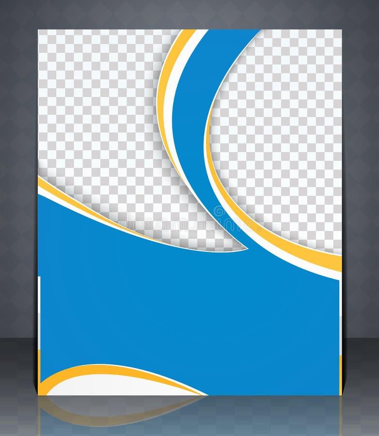 Vector o inseto da disposição, a capa de revista, ou a propaganda do molde do projeto incorporado, cor azul ilustração do vetor