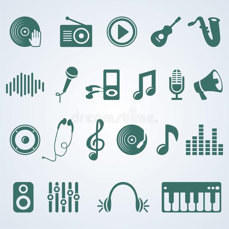 Vector o jogo de ícones da música ilustração do vetor