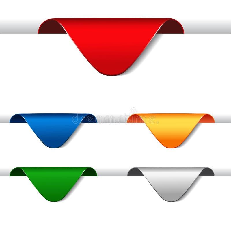 vector o jogo de setas do anúncio ilustração stock