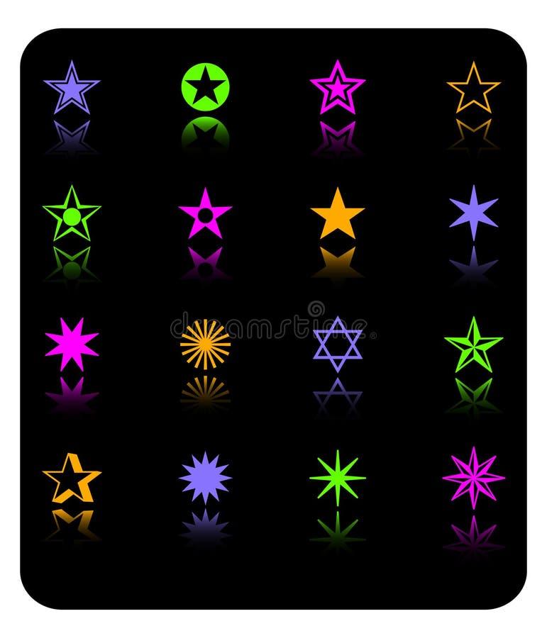 Vector o jogo do ícone das estrelas da cor ilustração stock