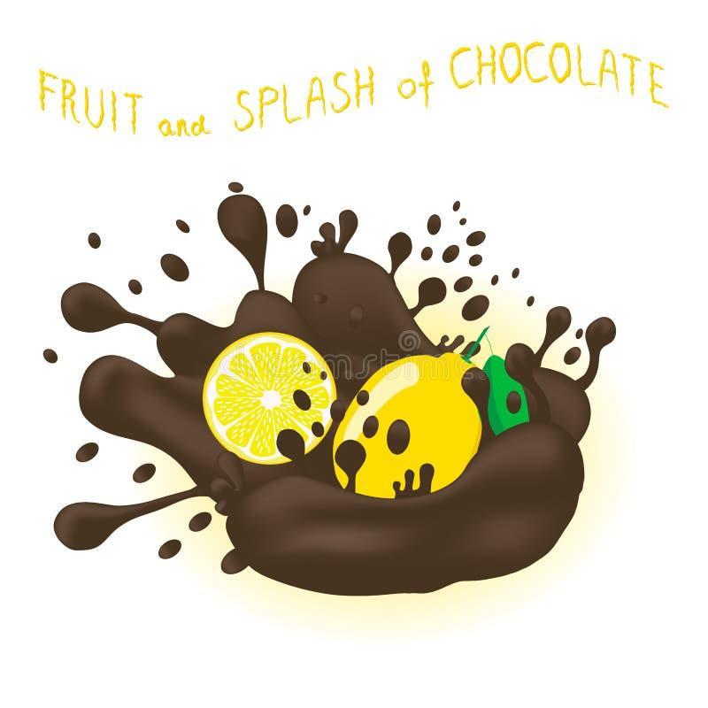 Vector o logotipo da ilustração do ícone para o limão maduro inteiro do citrino do amarelo do fruto ilustração stock