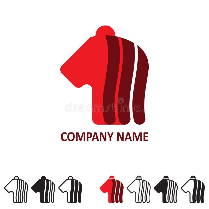 Vector o logotipo para a empresa em versões diferentes imagens de stock