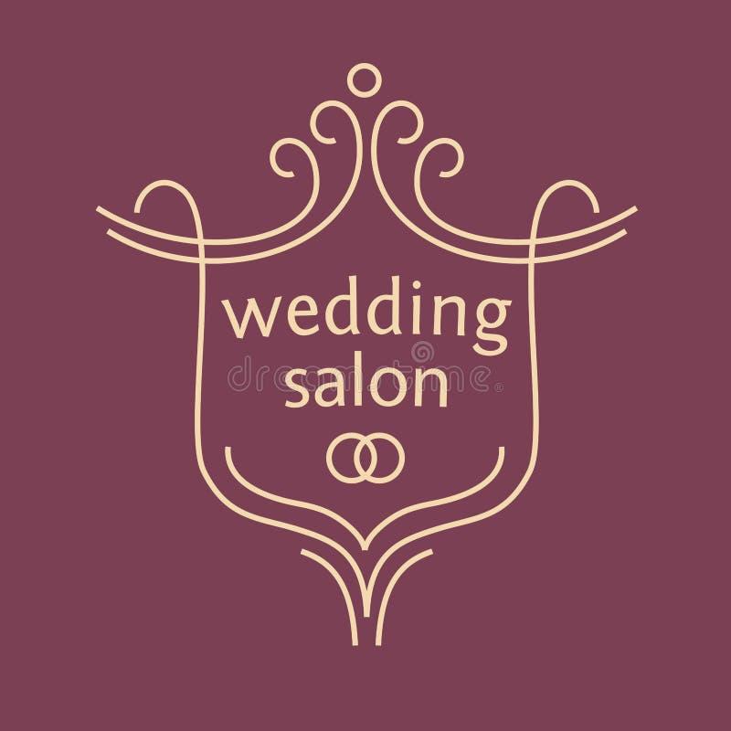 Vector o logotipo para um salão de beleza nupcial, ramalhetes do casamento ilustração royalty free