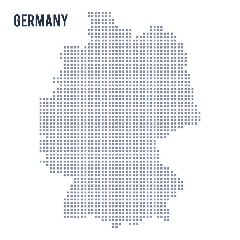 Vector o mapa de pixel de Alemanha isolou-se no fundo branco ilustração do vetor