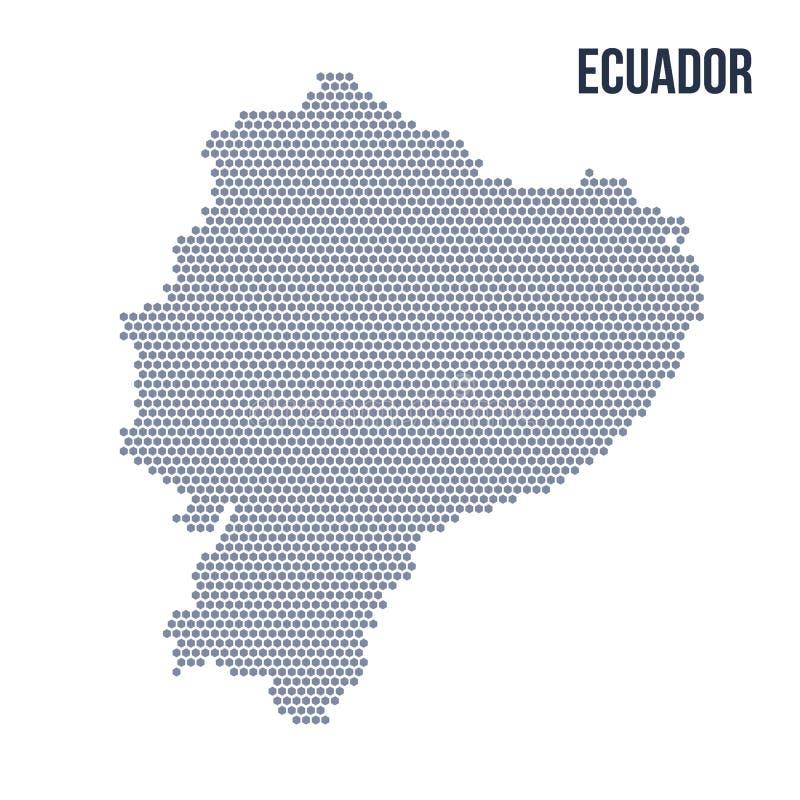 Vector o mapa do hexágono de Equador isolou-se no fundo branco ilustração stock