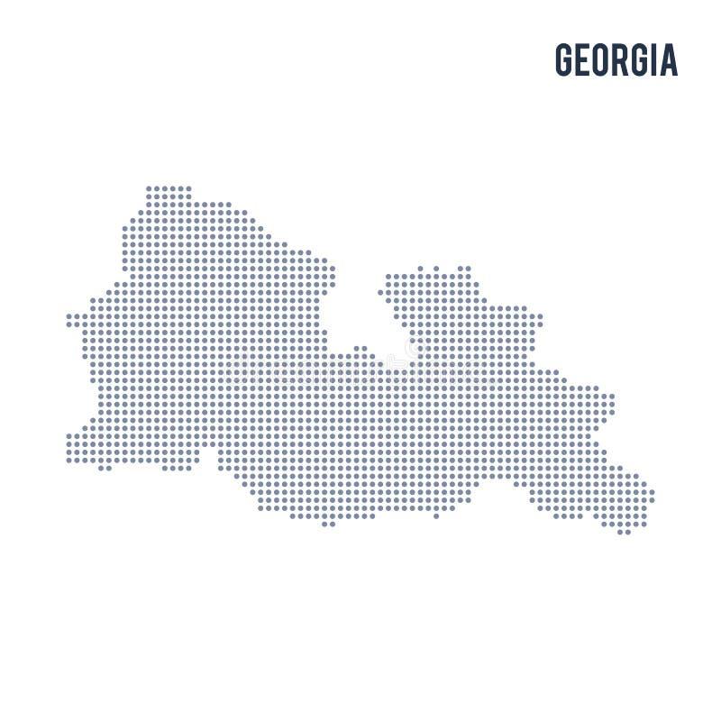 Vector o mapa pontilhado de Geórgia isolou-se no fundo branco ilustração do vetor