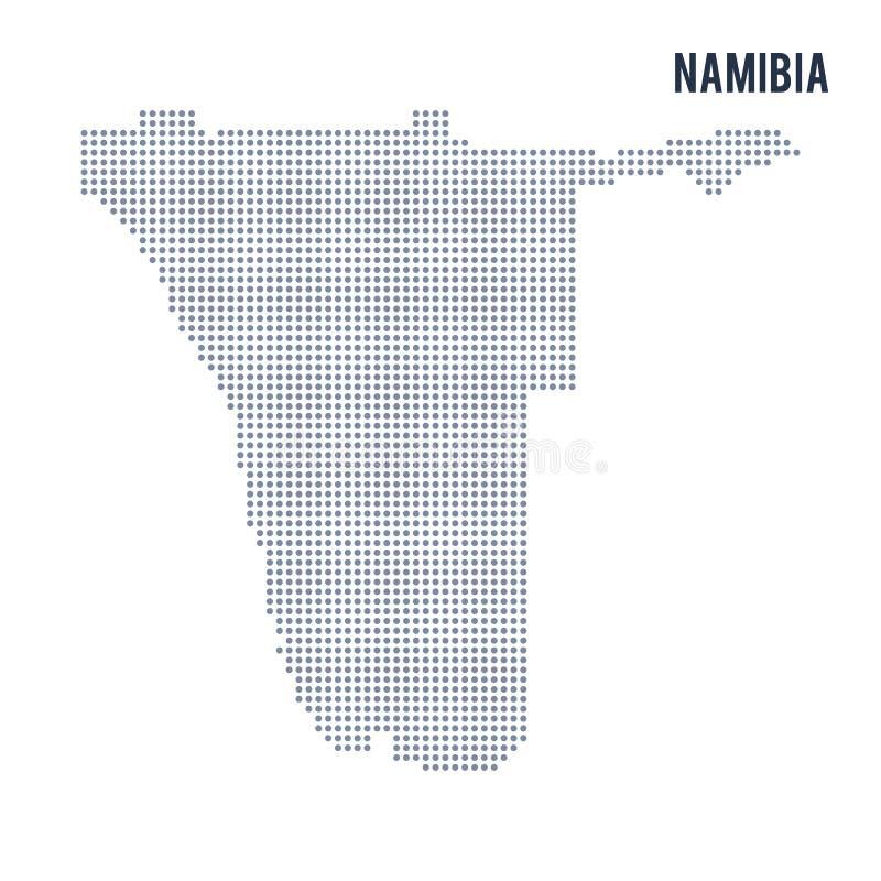 Vector o mapa pontilhado de Namíbia isolou-se no fundo branco ilustração royalty free