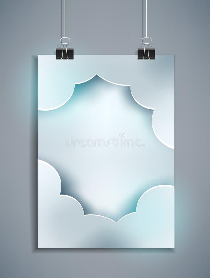 Vector o molde cinzento para o projeto que pendura na parede ilustração do vetor