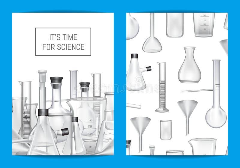Vector o molde do cartão, do inseto ou do folheto para o laboratório químico ilustração do vetor