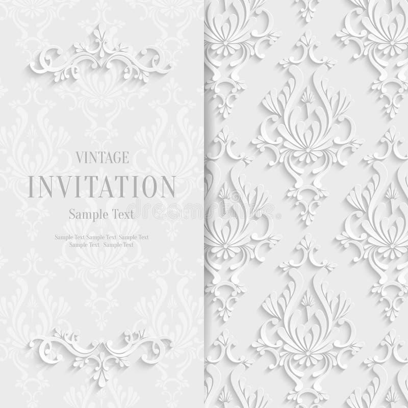 Vector o molde floral branco do fundo do convite do natal 3d download vector o molde floral branco do fundo do convite do natal 3d ilustrao do vetor stopboris Choice Image