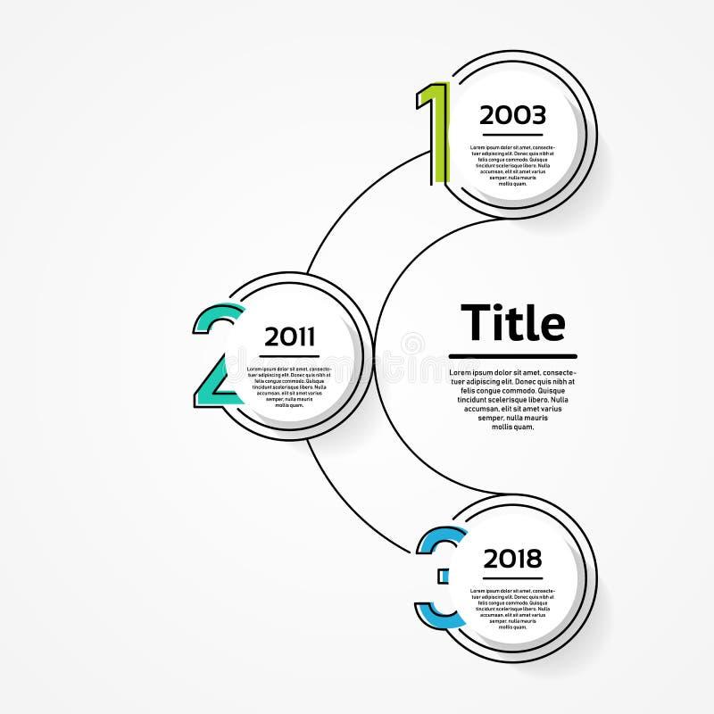 Vector o molde infographic para o diagrama, o gráfico, a apresentação e a carta Conceito do negócio com 3 opções, porções, etapas ilustração royalty free