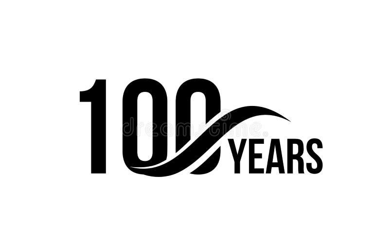 Vector o molde isolado do logotipo da data do aniversário para o elemento do projeto do ícone do aniversário da empresa de negóci ilustração do vetor
