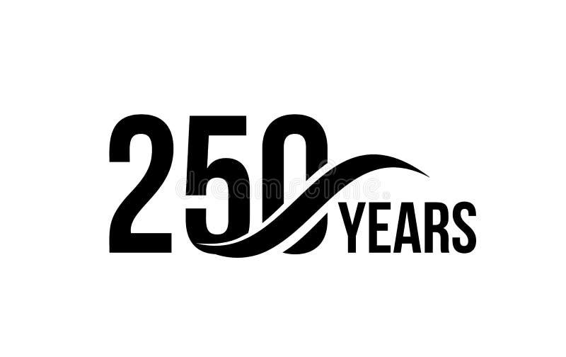 Vector o molde isolado do logotipo da data do aniversário para o elemento do projeto do ícone do aniversário da empresa de negóci ilustração royalty free