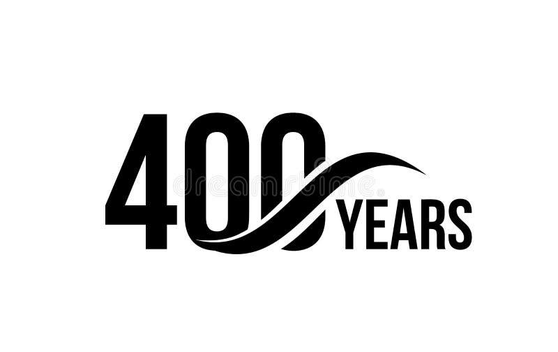 Vector o molde isolado do logotipo da data do aniversário para o elemento do projeto do ícone do aniversário da empresa de negóci ilustração stock