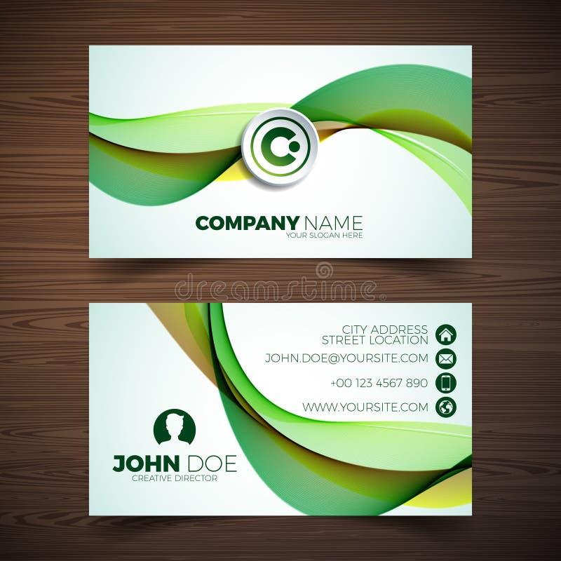 Vector o molde moderno do projeto de cartão com backgound abstrato Ilustração da identidade corporativa com logotipo simples ilustração royalty free