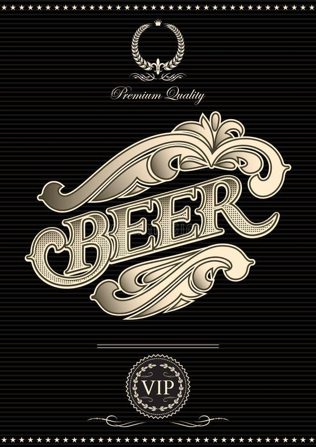 Vector o molde para a tampa do menu da cerveja ilustração royalty free