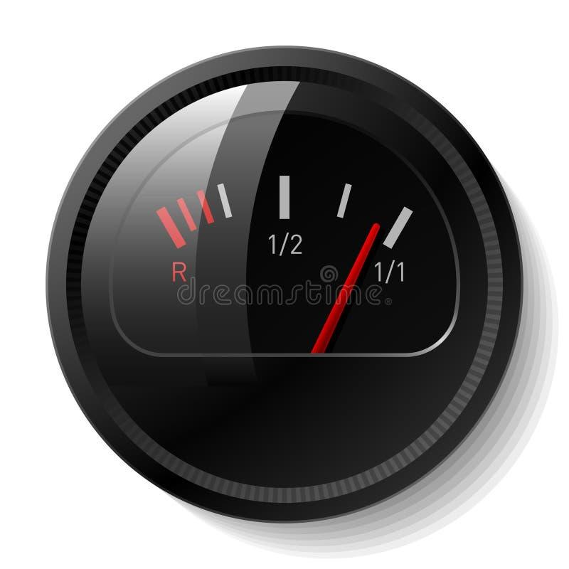 Vector o nível de combustível ilustração stock
