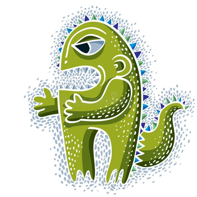 Vector o ogre bonito do caráter de Dia das Bruxas, criatura fictícia fresco ilustração do vetor