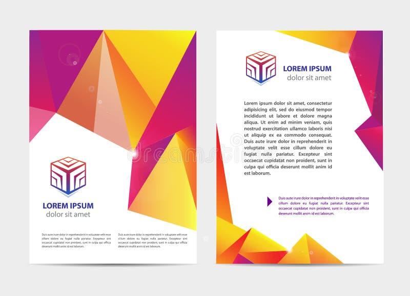 Vector o original, o folheto da tampa do estilo da letra ou do logotipo e o modelo do projeto do molde do cabeçalho ajustados par ilustração royalty free