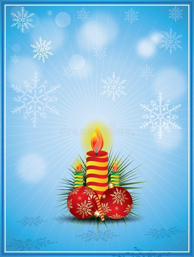 Vector o ornamento do Natal ilustração stock