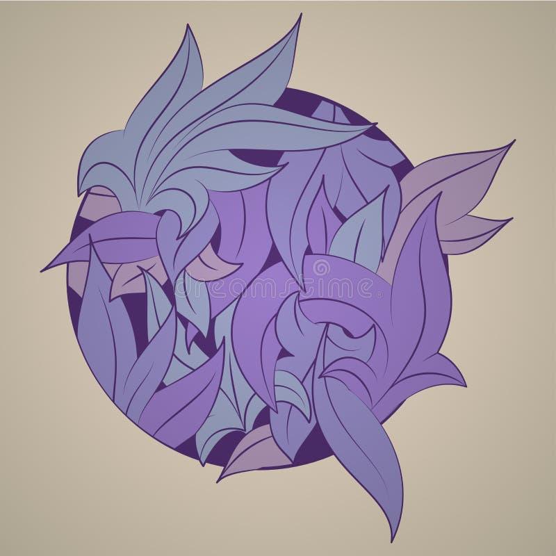 Vector o ornamento estilizado na forma das folhas, ilustração royalty free