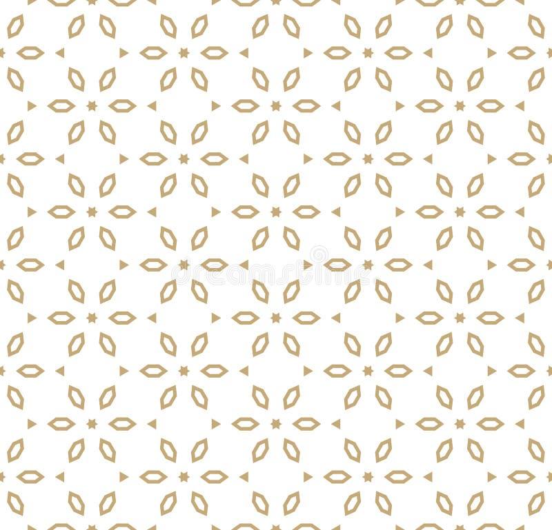 Vector o ouro geométrico e o teste padrão branco no estilo japonês Teste padrão 08 ilustração do vetor