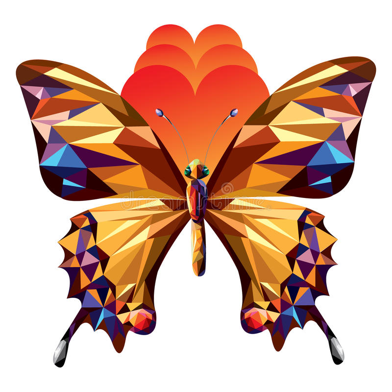 Vector o projeto na moda moderno do símbolo abstrato da borboleta - ilustração imagens de stock