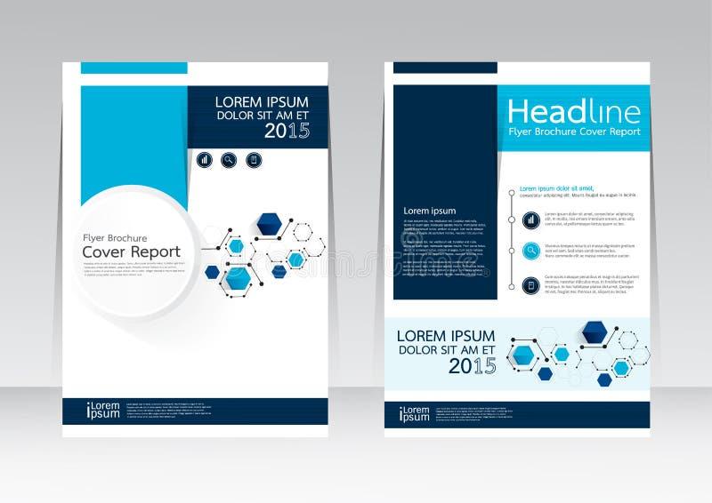 Vector o projeto para o cartaz do inseto do folheto do relatório da tampa no tamanho A4 imagem de stock