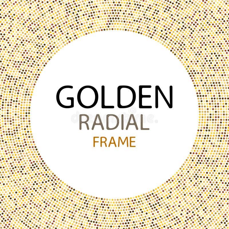 Vector o quadro das luzes do disco do ouro ou o quadro redondo das lantejoulas com centro vazio para o texto ilustração royalty free