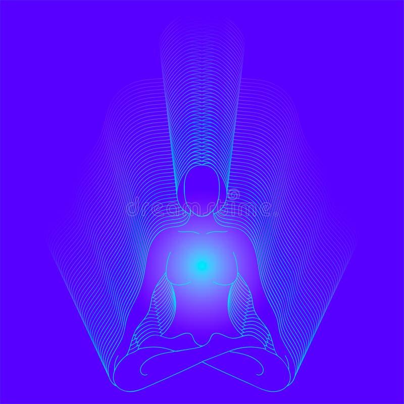 Vector o símbolo da ioga, meditação, espiritualidade ilustração do vetor