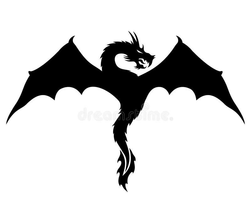 Vector o sinal Dragão ilustração stock