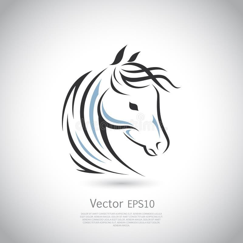 Vector o sinal Logotipo do cavalo ilustração royalty free