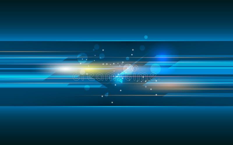 Vector o sumário, ciência, futurista, conceito da tecnologia energética ilustração stock