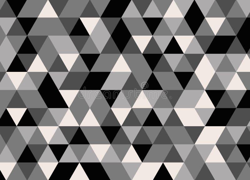 Vector o teste padrão colorido moderno do triângulo da geometria, sumário da cor ilustração stock