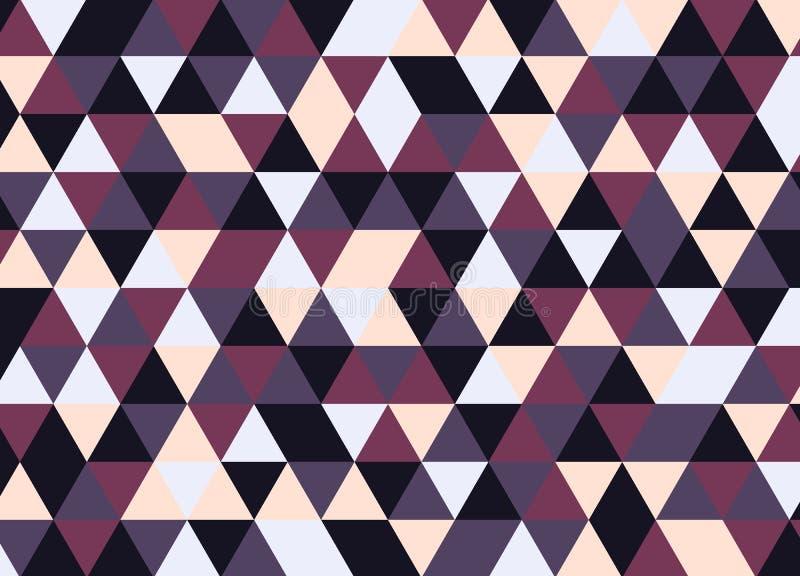 Vector o teste padrão colorido moderno do triângulo da geometria, sumário da cor ilustração royalty free
