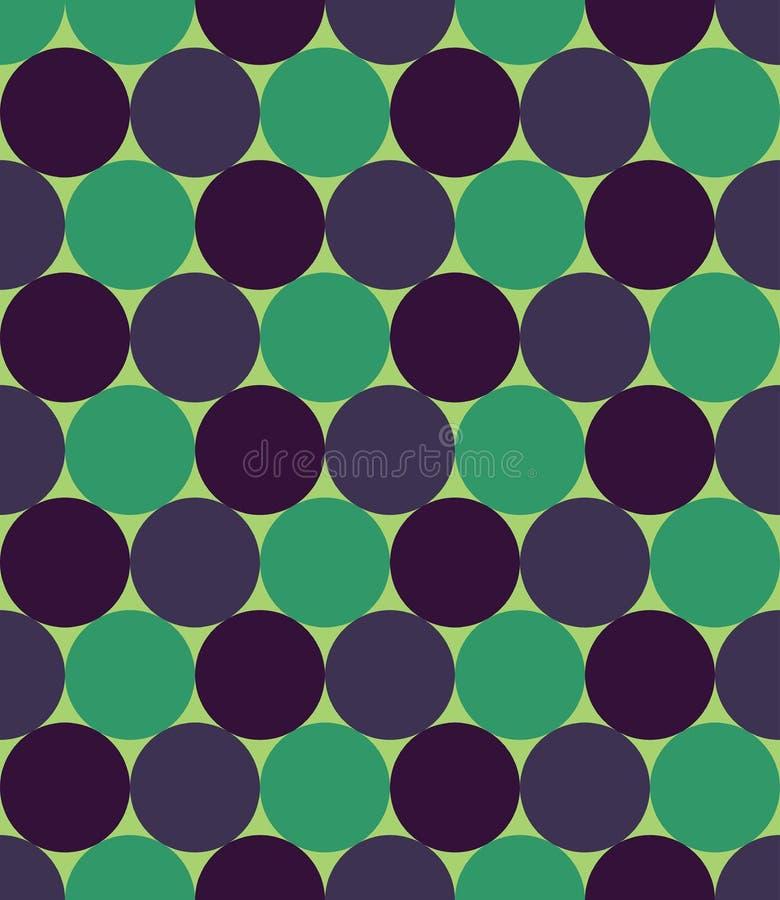 Vector o teste padrão colorido sem emenda moderno da geometria, círculos, colora o azul verde ilustração stock