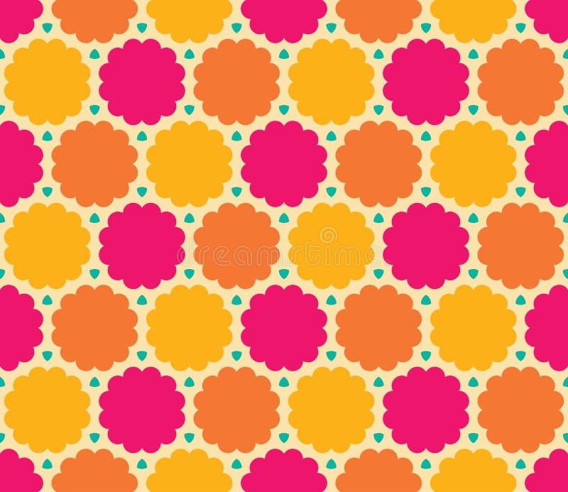 Vector o teste padrão colorido sem emenda moderno da nuvem da geometria, sumário da cor ilustração stock